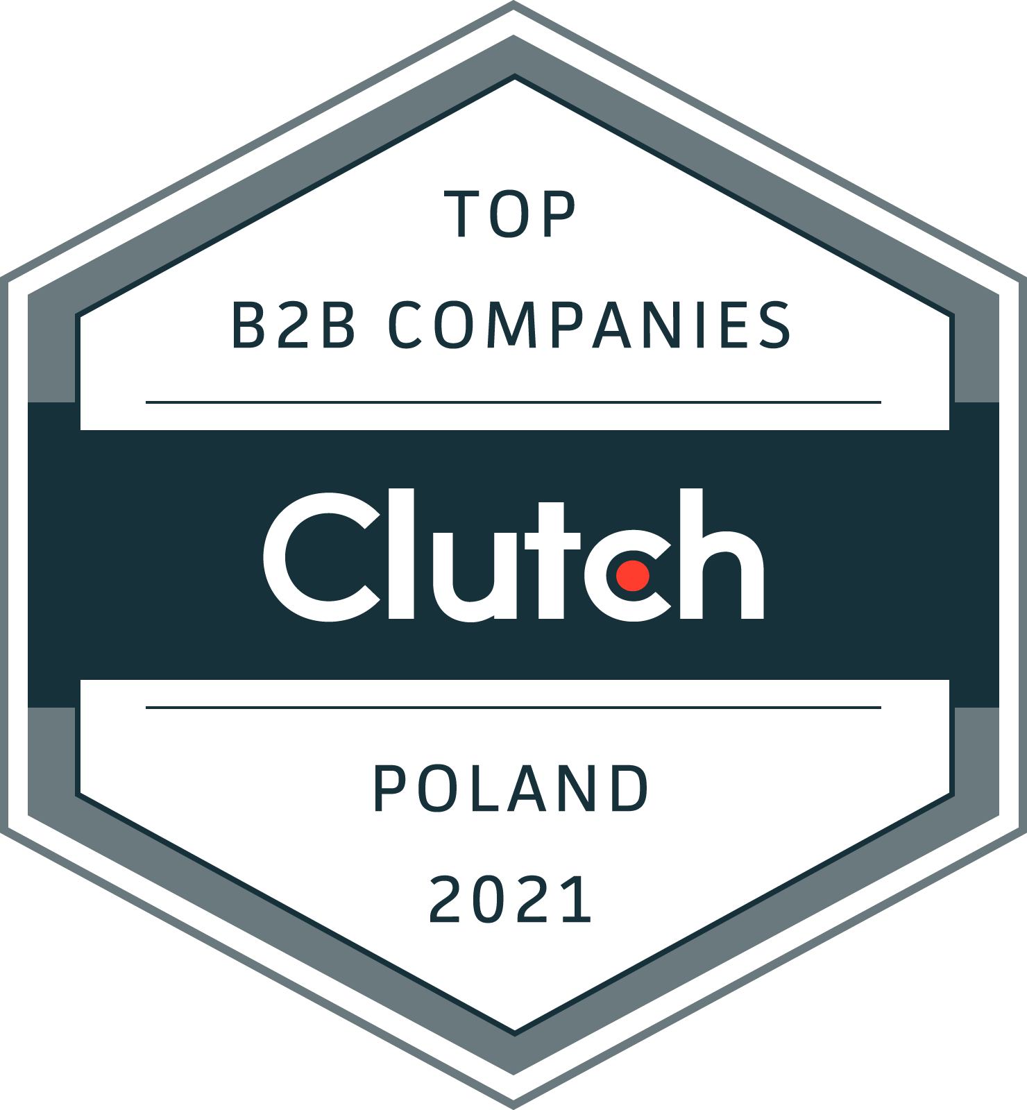 Clutch Award: Top IT services 2021 Poland