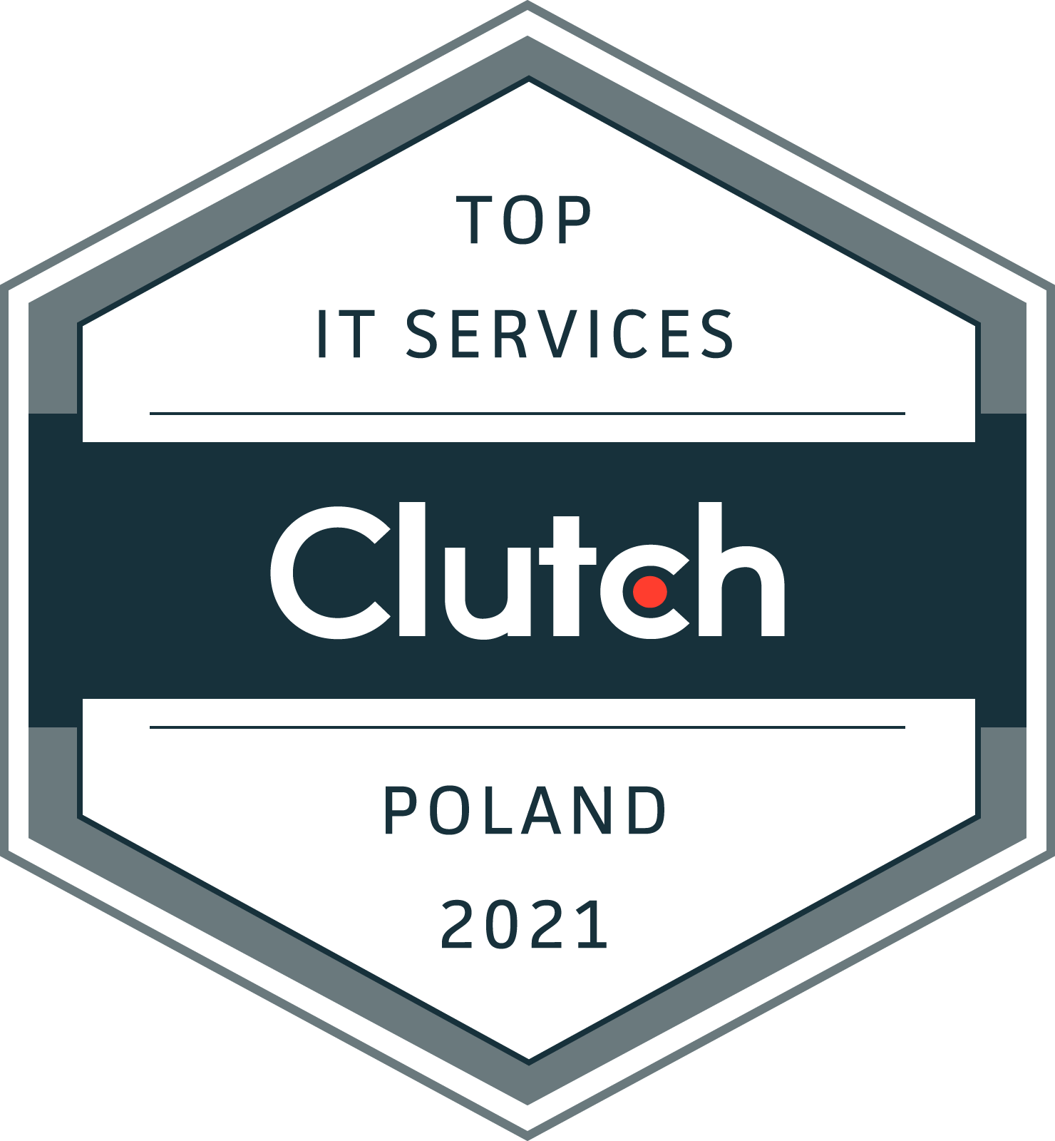 Clutch Award: Top IT services 2021 Poland
